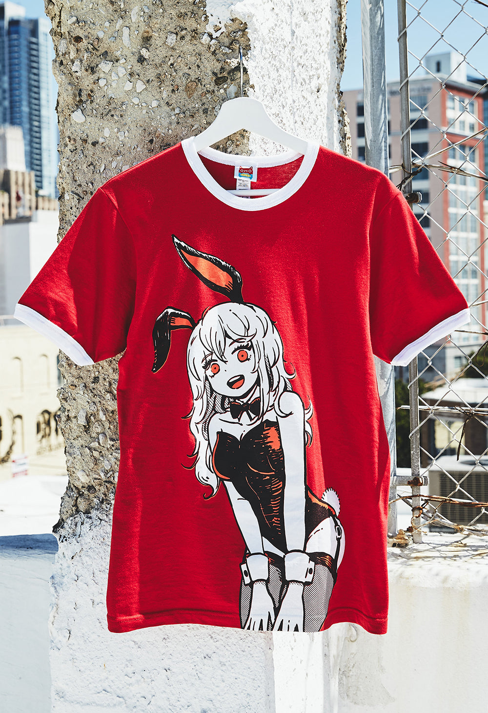 BUNNYGIRL Red Ringer T-Shirt
