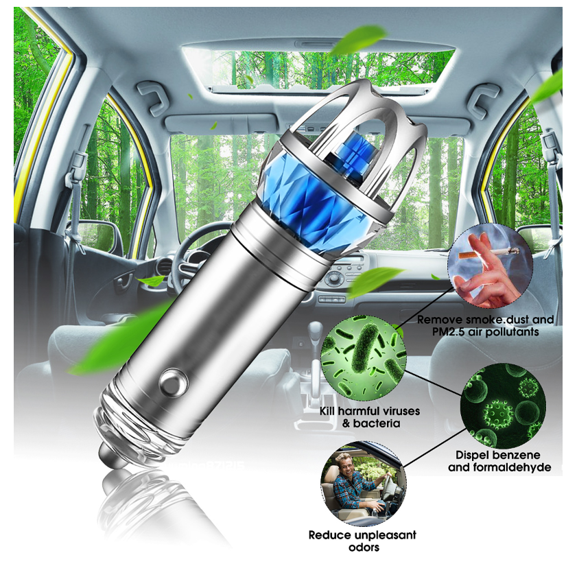 Puri-Car™ Car Negative Ions Air Purifier Cigarette Lighter Adaptor