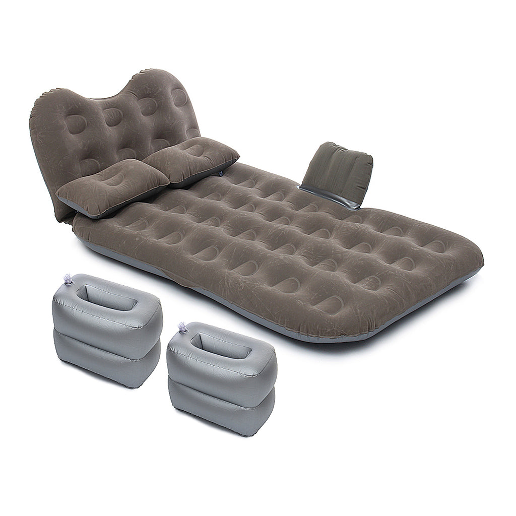Car Travel Inflatable Air Mattress Back Seat Portable Camping Bed Cushion with Back Support