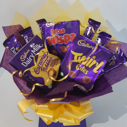 The Cadburys Sharing Bag Bouquet Hamper Gift Box