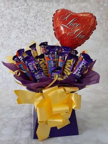The i love you cadburys bouquet hamper gift box present