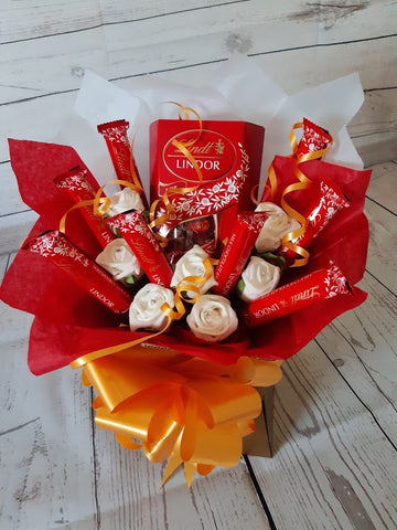 The Lindt Lindor Chocolate Bouquet Hamper Gift Box