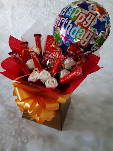 The Happy Birthday Lindt Lindor Chocolate Bouquet Hamper Sweet Box
