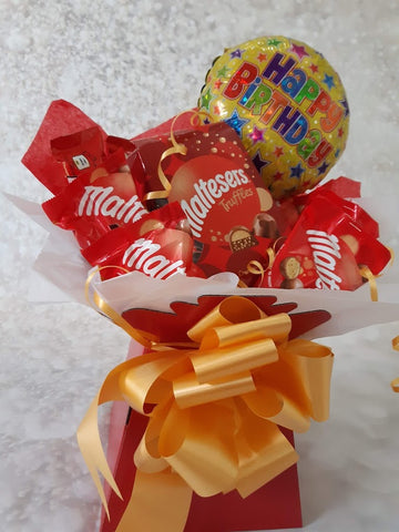 The Maltesers  Happy Birthday Chocolate Bouquet Hamper Gift Box