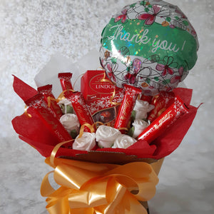 The Thank You Lindt Lindor Chocolate Bouquet Hamper Sweet Box