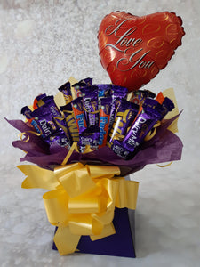 The i love you cadburys bouquet
