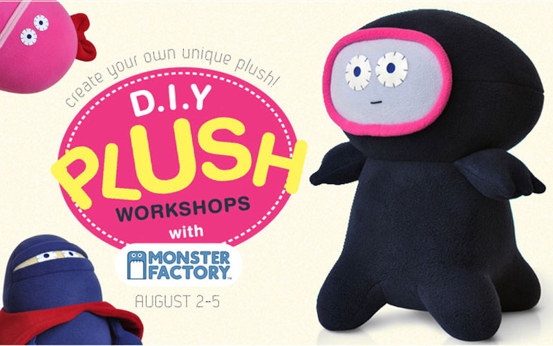 monster factory plush art camp exhibition magic pony