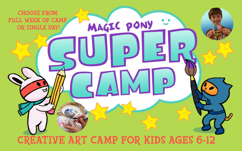 supercamp kids art camp exhibition magic pony