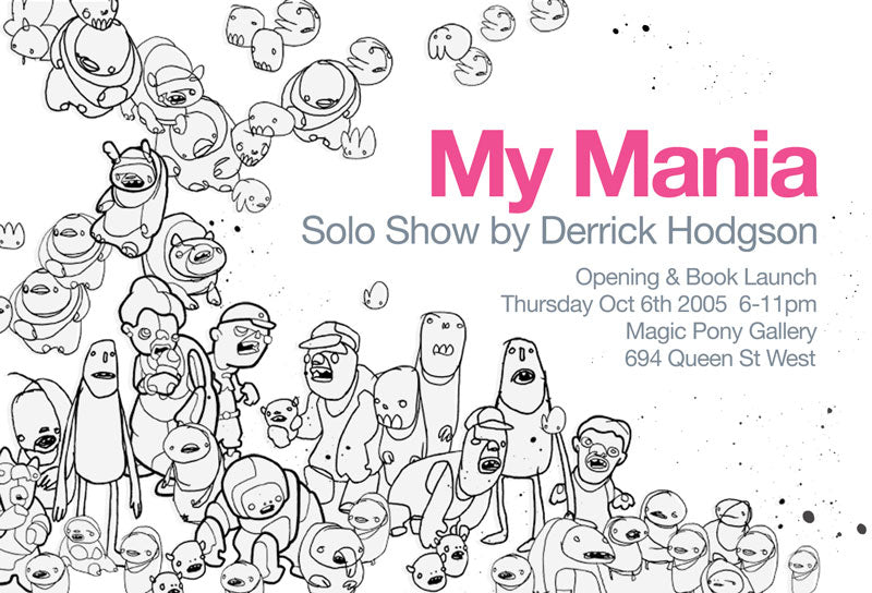 magic pony derrick hodgson my mania art exhibition