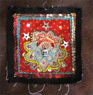 ilavska grandmother textile collage art exhibition magic pony