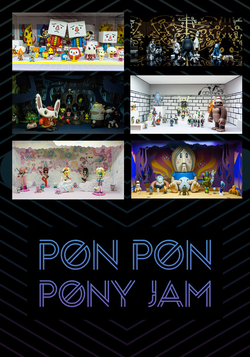 magic pony designer toy exhibition installation