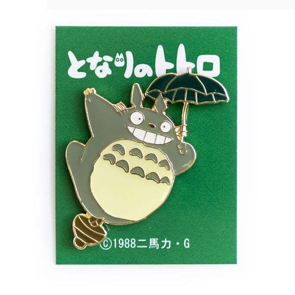Totoro with Umbrella Enamel Pin