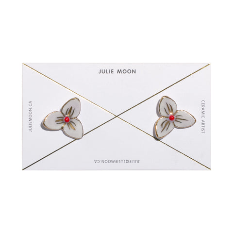 Julie Moon Blossom Earrings with Gold