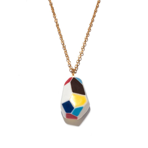 Julie Moon Geometric Necklace (Small)