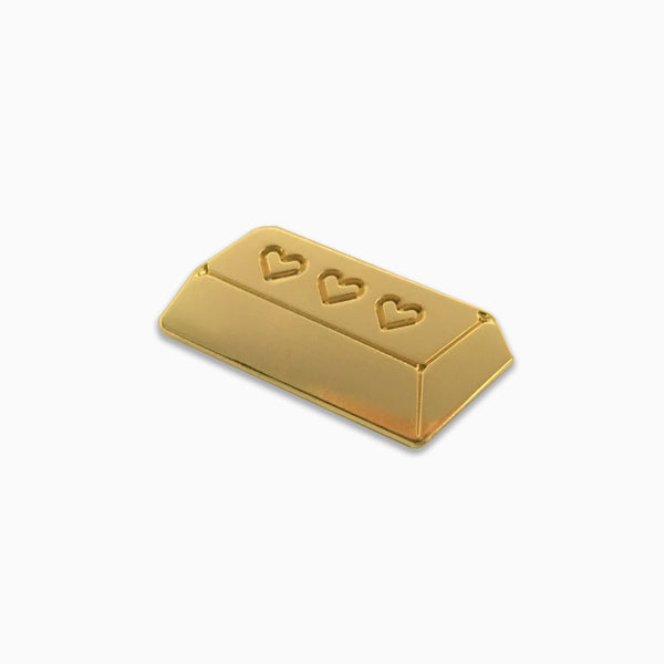 Heart of Gold Bar Lapel Pin