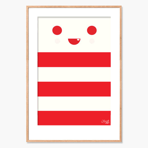 FriendsWithYou Red Stripe Archival Print
