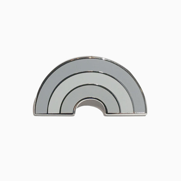 Mono Rainbow Lapel Pin (Grey)