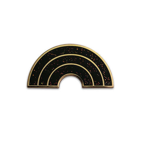 Mono Rainbow Lapel Pin (Black)