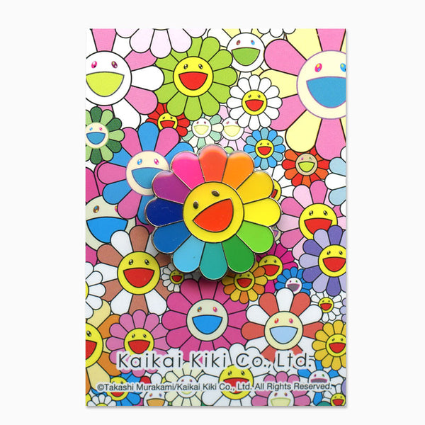 Takashi Murakami Rainbow Flower Lapel Pin