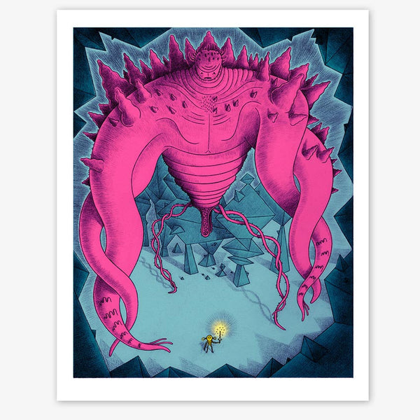 Nathan Jurevicius David and Goliath Riso Print