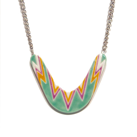 Julie Moon Boomerang Necklace