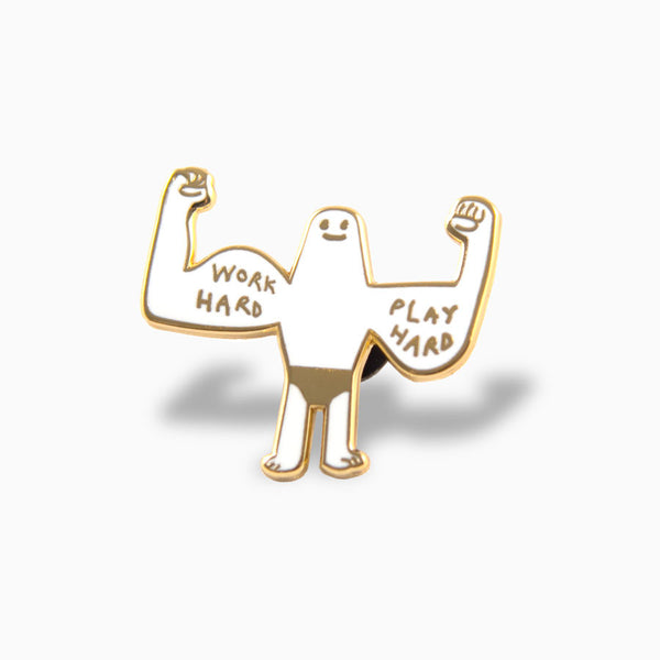 Work Hard, Play Hard Souther Salazar  Lapel Pin