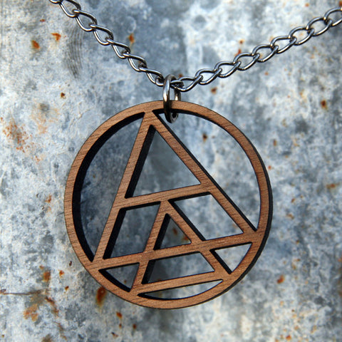 We Kill You Geometry Necklace