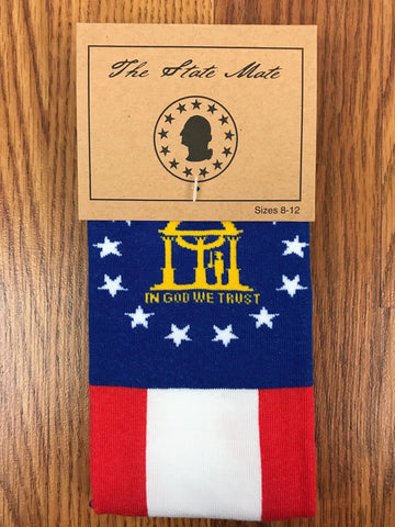 Georgia State Flag Dress Socks