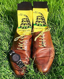 Don't Tread On Me Gadsden Flag Dress Socks