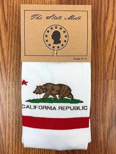 California State Flag Socks