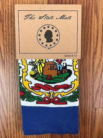 West Virginia State Flag Dress Socks