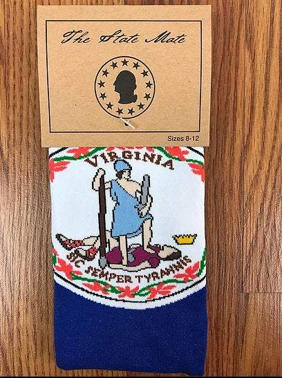 Virginia State Flag Socks