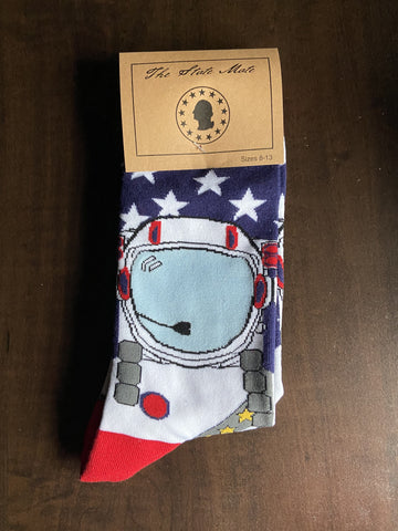 United States Astronaut Spaceman Socks