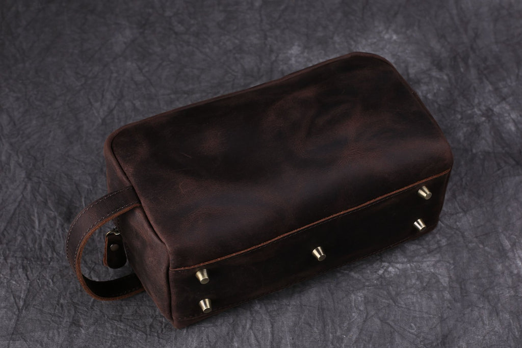 Groomsmen Gifts Personalized Leather Dopp Kit Toiletry Bag Groomsman Gifts Best Man Gifts
