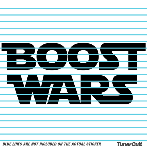 Boost wars sticker