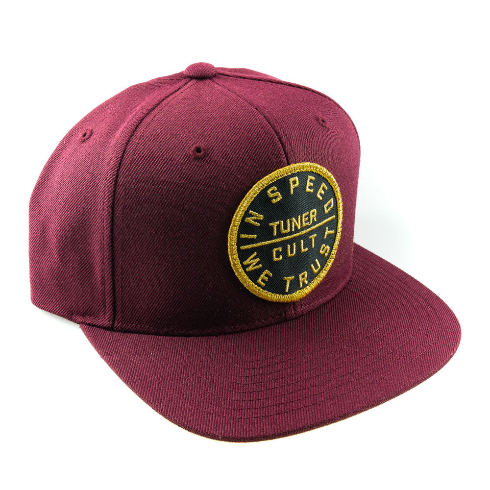 "Snap Back ""Golden"" Burgundy"