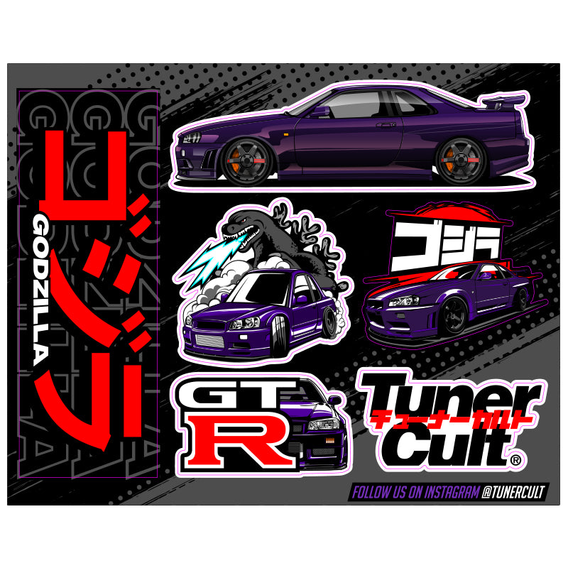 (Sticker Pack) R34 SKYLINE GT-R