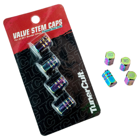 TunerCult® Valve Stem Caps - Neo Chrome