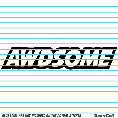 Awdsome sticker awdsome sticker