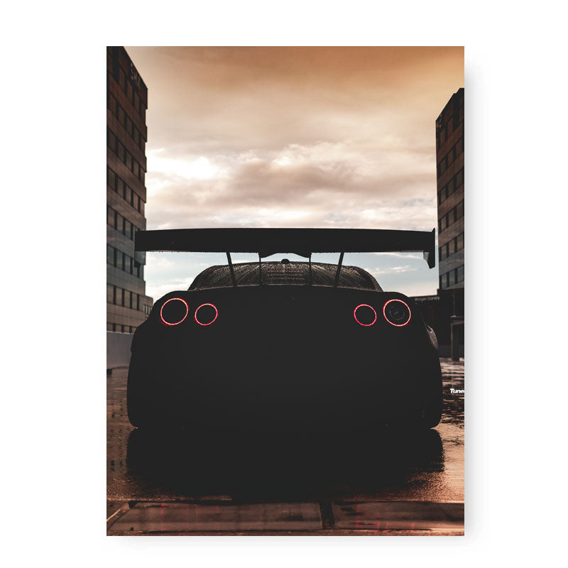 RED SKY GT-R Poster