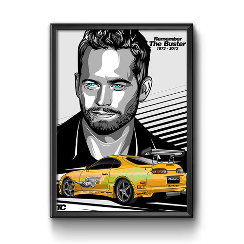 Paul Walker Fast And The Furious Poster Art