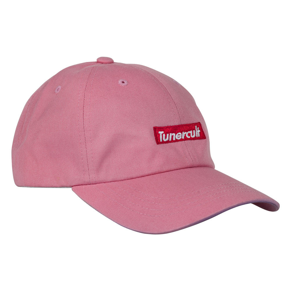 "Dad Hat ""Red Bar"" Pink"