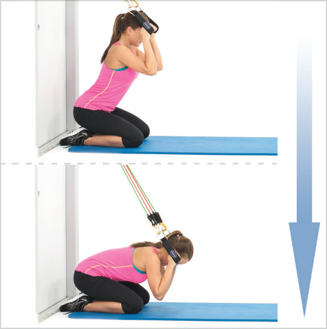 Resistance Band Kneeling Crunches