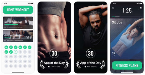 30-Day Fitness Challenge App iOS