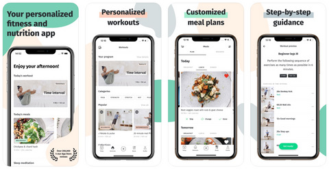 8Fit Workouts and Meal Planner App on iOS