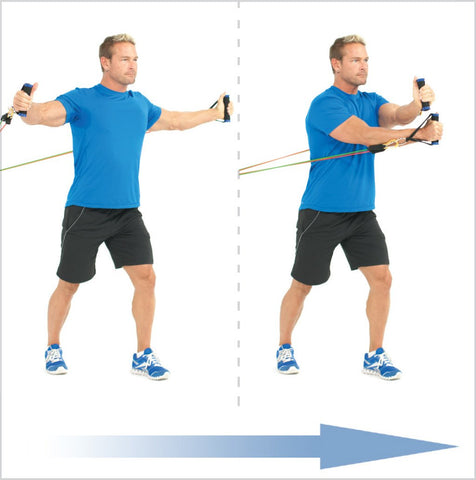 Crossover Resistance Band Chest Fly