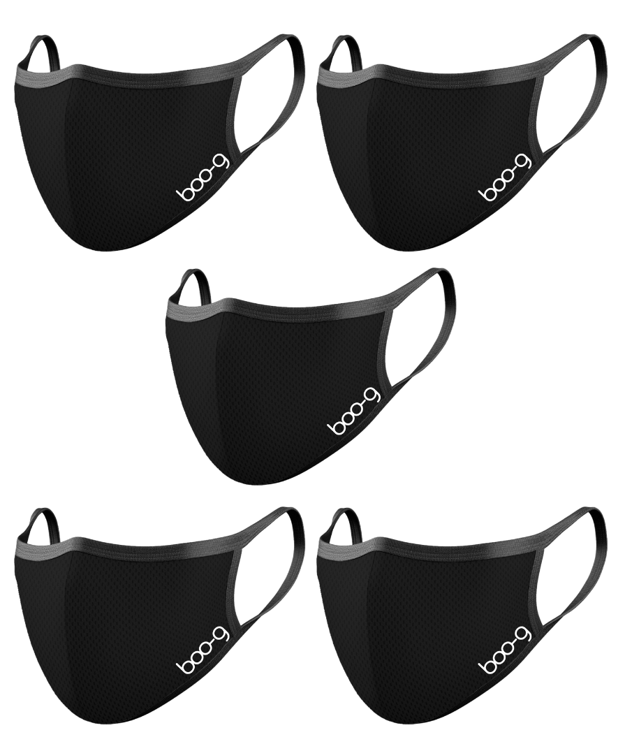 Sports Mask - Black (5 Pack)