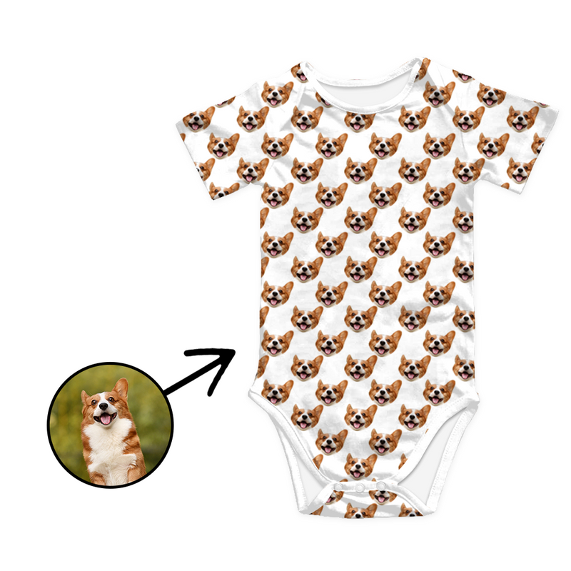 Custom Photo Baby Bodysuit My Loved One's Face