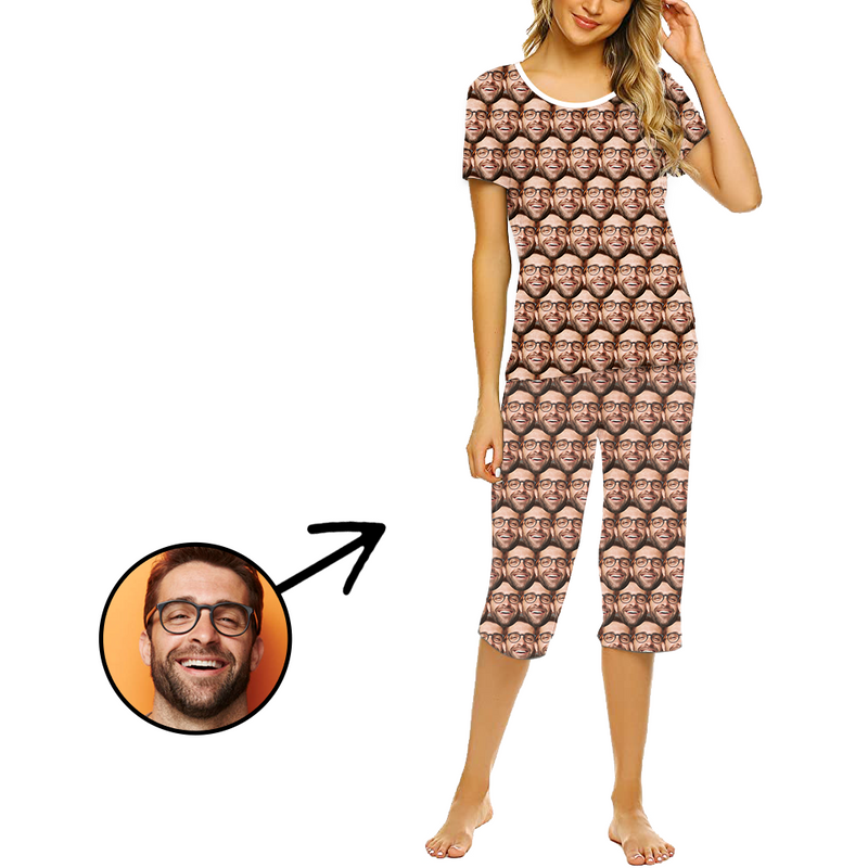 Custom Photo Pajamas For Women Mash Face
