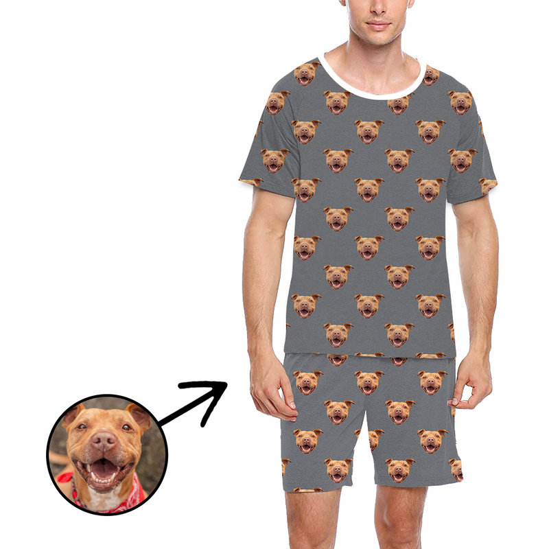 Custom Photo Pajamas For Men I Love My Dog